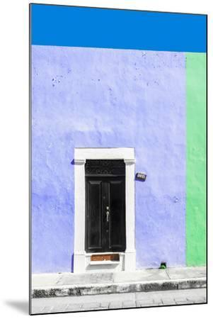 ¡Viva Mexico! Collection - 124 Street Campeche - Purple & Green Wall-Philippe Hugonnard-Mounted Photographic Print