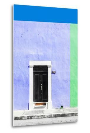 ¡Viva Mexico! Collection - 124 Street Campeche - Purple & Green Wall-Philippe Hugonnard-Metal Print