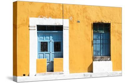 ?Viva Mexico! Collection - 130 Street Campeche - Dark Yellow Wall-Philippe Hugonnard-Stretched Canvas Print