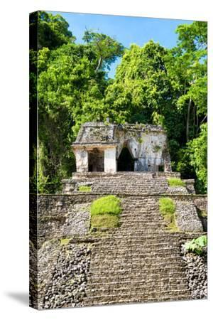 ?Viva Mexico! Collection - Mayan Ruins in the Forest-Philippe Hugonnard-Stretched Canvas Print