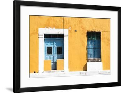 ?Viva Mexico! Collection - 130 Street Campeche - Dark Yellow Wall-Philippe Hugonnard-Framed Photographic Print