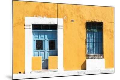 ?Viva Mexico! Collection - 130 Street Campeche - Dark Yellow Wall-Philippe Hugonnard-Mounted Photographic Print