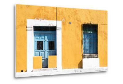?Viva Mexico! Collection - 130 Street Campeche - Dark Yellow Wall-Philippe Hugonnard-Metal Print