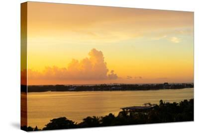 ?Viva Mexico! Collection - Sunset over Cancun-Philippe Hugonnard-Stretched Canvas Print