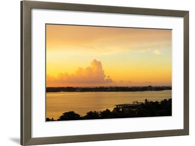 ?Viva Mexico! Collection - Sunset over Cancun-Philippe Hugonnard-Framed Photographic Print