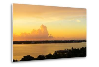 ?Viva Mexico! Collection - Sunset over Cancun-Philippe Hugonnard-Metal Print