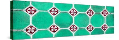 ¡Viva Mexico! Panoramic Collection - Wall of Green Mosaics-Philippe Hugonnard-Stretched Canvas Print