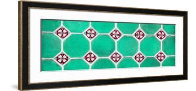 ¡Viva Mexico! Panoramic Collection - Wall of Green Mosaics-Philippe Hugonnard-Framed Photographic Print