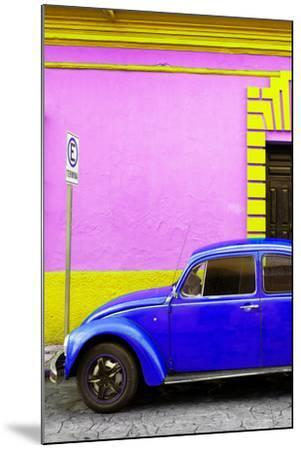 ?Viva Mexico! Collection - Royal Blue VW Beetle Car and Colorful Wall-Philippe Hugonnard-Mounted Photographic Print