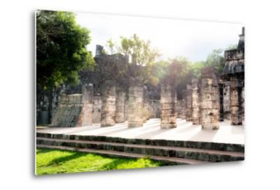 ¡Viva Mexico! Collection - One Thousand Mayan Columns III - Chichen Itza-Philippe Hugonnard-Metal Print
