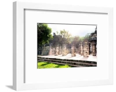 ¡Viva Mexico! Collection - One Thousand Mayan Columns III - Chichen Itza-Philippe Hugonnard-Framed Photographic Print