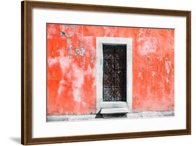 ?Viva Mexico! Collection - Red Wall of Silence-Philippe Hugonnard-Framed Photographic Print