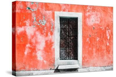 ?Viva Mexico! Collection - Red Wall of Silence-Philippe Hugonnard-Stretched Canvas Print