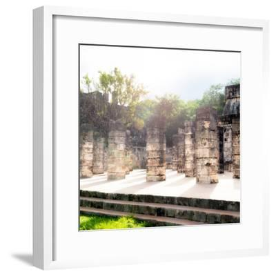 ¡Viva Mexico! Collection - One Thousand Mayan Columns V - Chichen Itza-Philippe Hugonnard-Framed Photographic Print