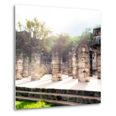 ¡Viva Mexico! Collection - One Thousand Mayan Columns V - Chichen Itza-Philippe Hugonnard-Metal Print