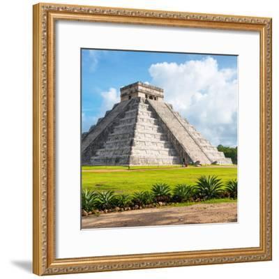 ¡Viva Mexico! Square Collection - El Castillo Pyramid in Chichen Itza V-Philippe Hugonnard-Framed Photographic Print