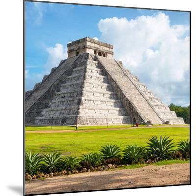 ¡Viva Mexico! Square Collection - El Castillo Pyramid in Chichen Itza V-Philippe Hugonnard-Mounted Photographic Print