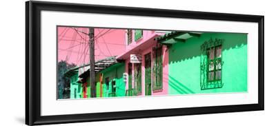 ¡Viva Mexico! Panoramic Collection - Colorful Houses in San Cristobal II-Philippe Hugonnard-Framed Photographic Print