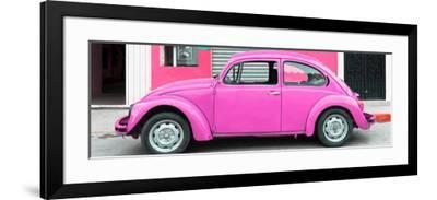 ¡Viva Mexico! Panoramic Collection - Hot Pink VW Beetle Car-Philippe Hugonnard-Framed Photographic Print