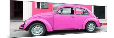 ¡Viva Mexico! Panoramic Collection - Hot Pink VW Beetle Car-Philippe Hugonnard-Mounted Photographic Print