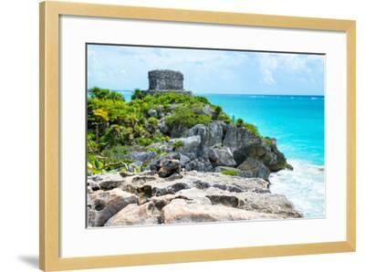 ?Viva Mexico! Collection - Mayan Archaeological Site with Iguana II - Tulum-Philippe Hugonnard-Framed Photographic Print