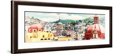 ¡Viva Mexico! Panoramic Collection - Guanajuato Cityscape IV-Philippe Hugonnard-Framed Photographic Print
