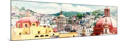 ¡Viva Mexico! Panoramic Collection - Guanajuato Cityscape IV-Philippe Hugonnard-Mounted Photographic Print