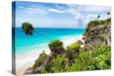 ?Viva Mexico! Collection - Caribbean Coastline in Tulum-Philippe Hugonnard-Stretched Canvas Print