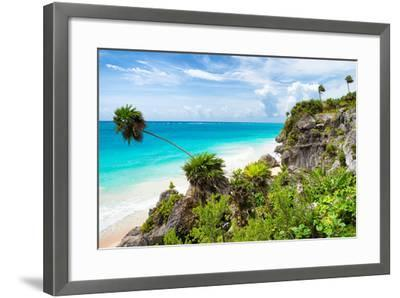 ?Viva Mexico! Collection - Caribbean Coastline in Tulum-Philippe Hugonnard-Framed Photographic Print