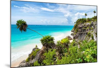 ?Viva Mexico! Collection - Caribbean Coastline in Tulum-Philippe Hugonnard-Mounted Photographic Print
