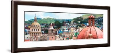 ¡Viva Mexico! Panoramic Collection - Guanajuato Church Domes I-Philippe Hugonnard-Framed Photographic Print