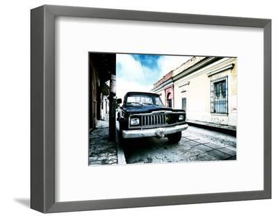 ¡Viva Mexico! Collection - Black Jeep and Colorful Street III-Philippe Hugonnard-Framed Photographic Print