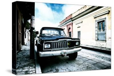¡Viva Mexico! Collection - Black Jeep and Colorful Street III-Philippe Hugonnard-Stretched Canvas Print