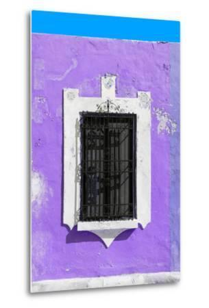 ?Viva Mexico! Collection - Purple Window - Campeche-Philippe Hugonnard-Metal Print