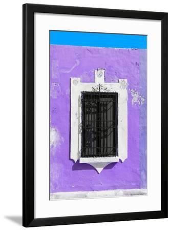 ?Viva Mexico! Collection - Purple Window - Campeche-Philippe Hugonnard-Framed Photographic Print