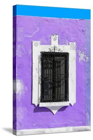?Viva Mexico! Collection - Purple Window - Campeche-Philippe Hugonnard-Stretched Canvas Print