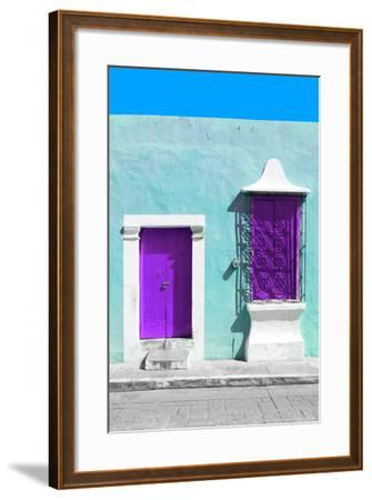 ?Viva Mexico! Collection - Purple and Powder Blue Facade - Campeche-Philippe Hugonnard-Framed Photographic Print