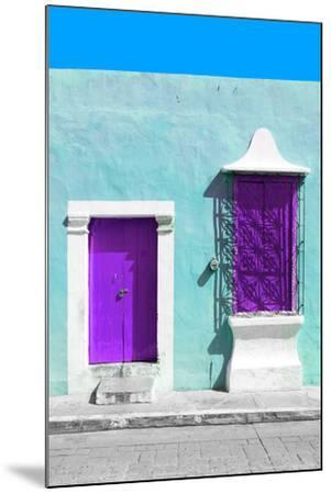 ?Viva Mexico! Collection - Purple and Powder Blue Facade - Campeche-Philippe Hugonnard-Mounted Photographic Print