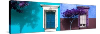 ¡Viva Mexico! Panoramic Collection - Mexican Colorful Facades V-Philippe Hugonnard-Stretched Canvas Print