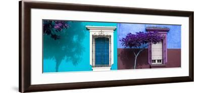 ¡Viva Mexico! Panoramic Collection - Mexican Colorful Facades V-Philippe Hugonnard-Framed Photographic Print