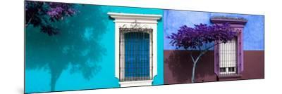 ¡Viva Mexico! Panoramic Collection - Mexican Colorful Facades V-Philippe Hugonnard-Mounted Photographic Print