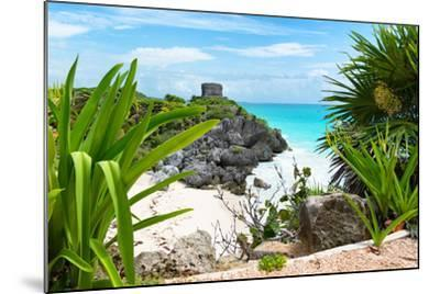 ?Viva Mexico! Collection - Mayan Archaeological Site with Iguana - Tulum-Philippe Hugonnard-Mounted Photographic Print