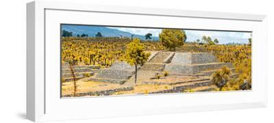 ¡Viva Mexico! Panoramic Collection - Pyramid of Cantona - Puebla VI-Philippe Hugonnard-Framed Photographic Print