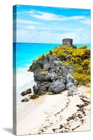 ?Viva Mexico! Collection - Tulum Ruins along Caribbean Coastline IX-Philippe Hugonnard-Stretched Canvas Print