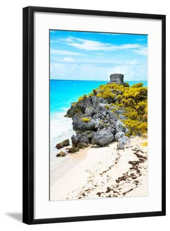 ?Viva Mexico! Collection - Tulum Ruins along Caribbean Coastline IX-Philippe Hugonnard-Framed Photographic Print