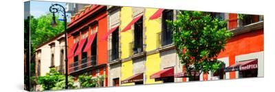 ¡Viva Mexico! Panoramic Collection - Mexico City Colorful Facades-Philippe Hugonnard-Stretched Canvas Print