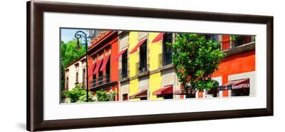 ¡Viva Mexico! Panoramic Collection - Mexico City Colorful Facades-Philippe Hugonnard-Framed Photographic Print