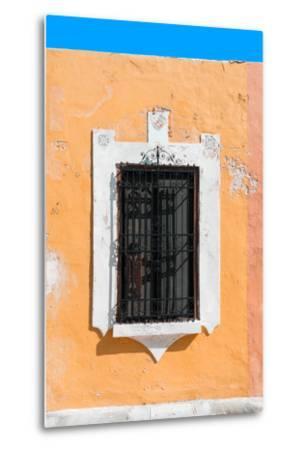 ?Viva Mexico! Collection - Orange Window - Campeche-Philippe Hugonnard-Metal Print
