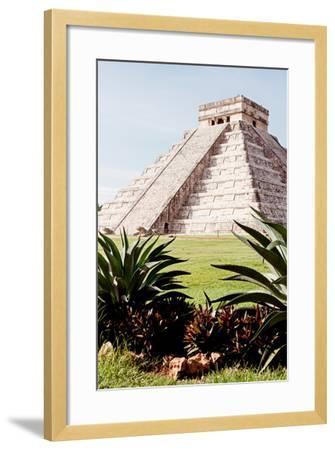 ?Viva Mexico! Collection - El Castillo Pyramid of the Chichen Itza IV-Philippe Hugonnard-Framed Photographic Print