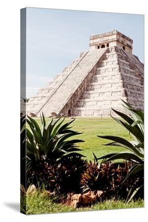 ?Viva Mexico! Collection - El Castillo Pyramid of the Chichen Itza IV-Philippe Hugonnard-Stretched Canvas Print